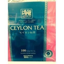 TEA<  CEYLON TEA<100 TEA BAGS><PURE CEYLON TEA><PACKED IN SRILANKA>
