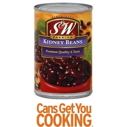 Canned  food =Red kidney beans(product of italy)