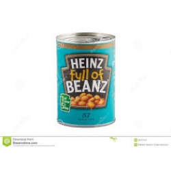 Canned  food =Baked beans (product of italy)