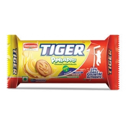 Biscuits / Tiger  ~Pineapple ( Product of India ) `~ Weight  86 Gm